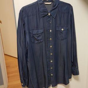Soft Surrounding Silky Denim Shirt